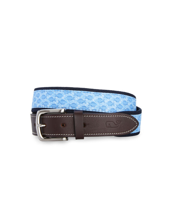 Mosaic Fish Canvas Club Belt by Vineyard Vines